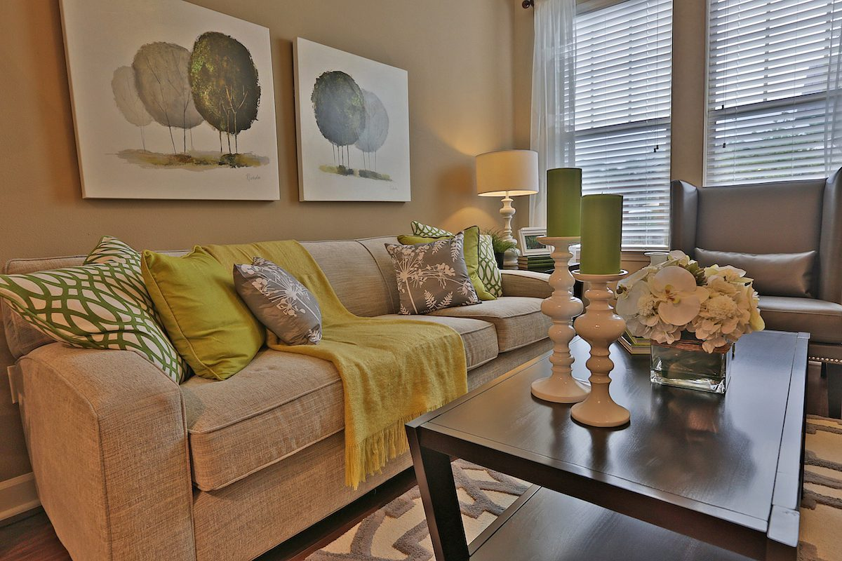 A tidy living room