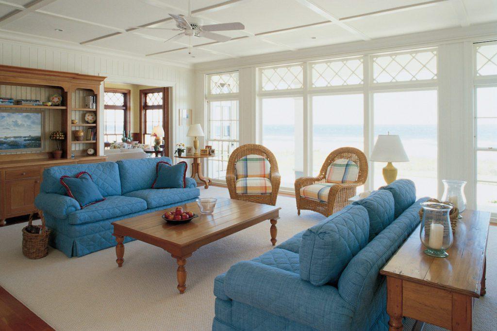 A furnished, uncluttered living room