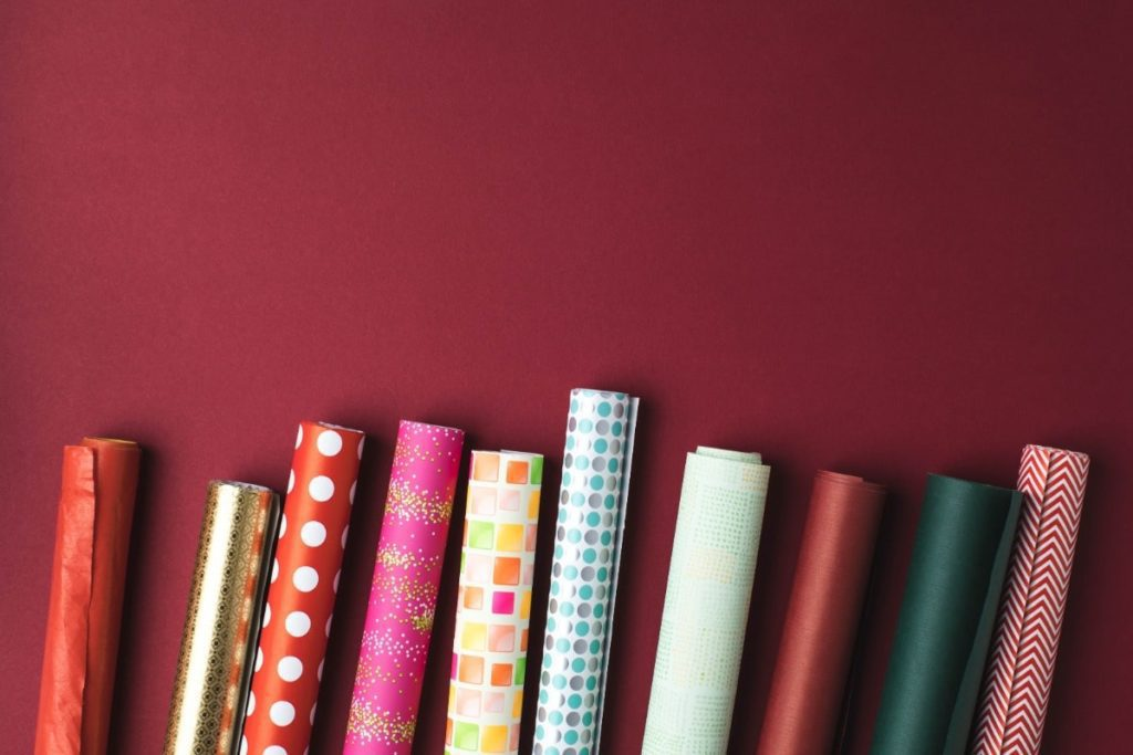 Various types of wrapping paper.