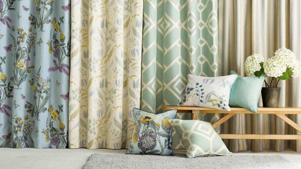 Various curtain patterns.