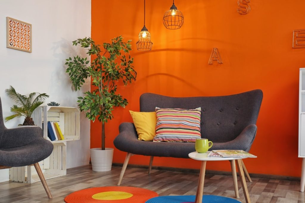 Large pops of color can turn potential renters off when home staging.
