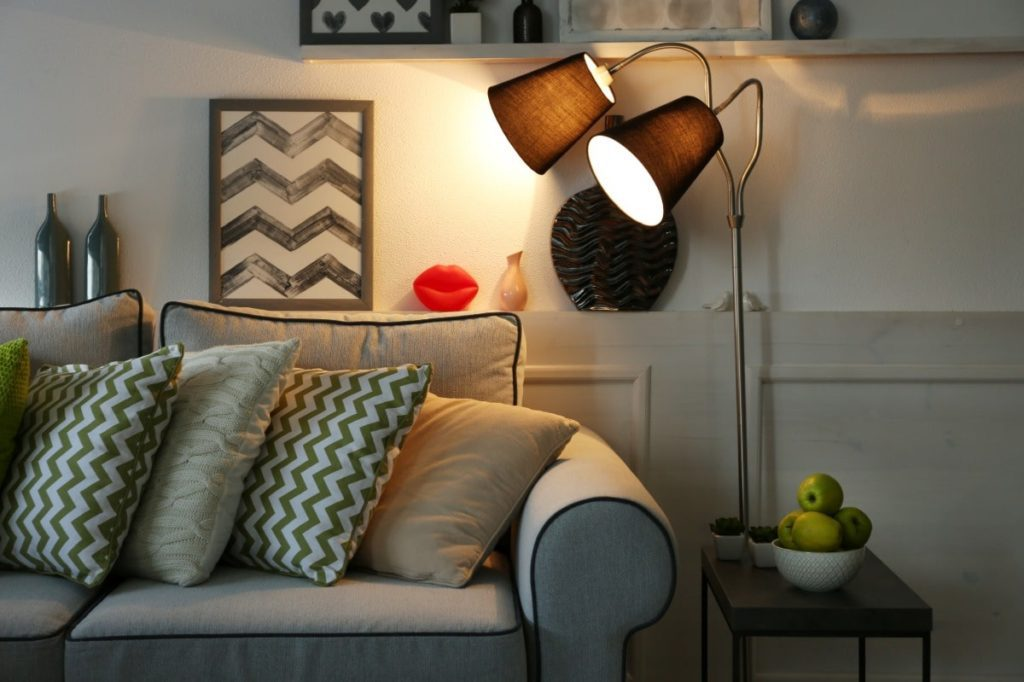 Make sure all rooms in your home are lighted well when home staging.