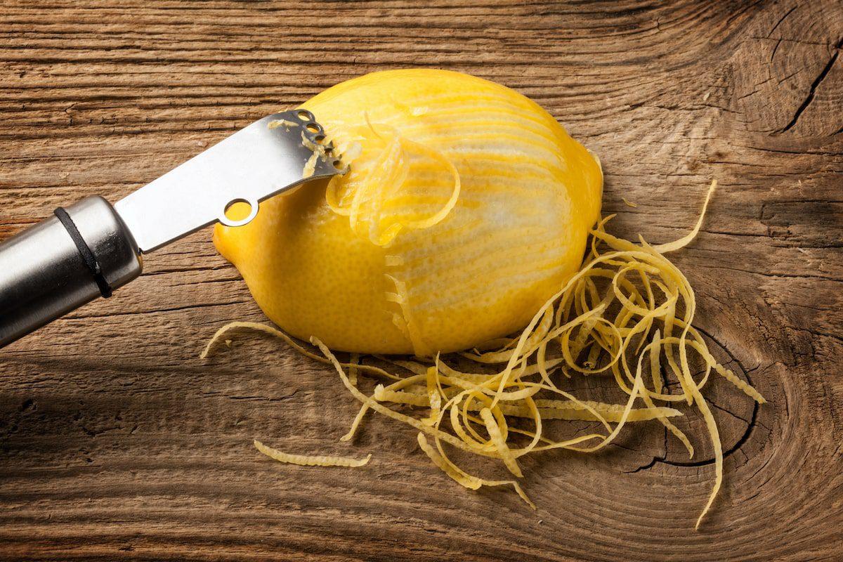 A zested lemon.
