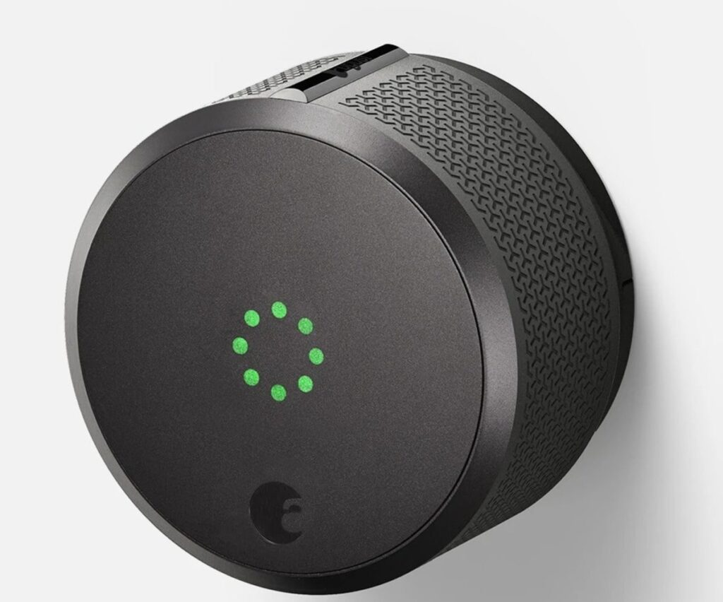 Image of the AUGUST WI-FI SMART LOCK.